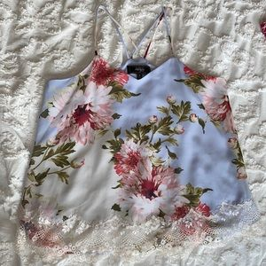 Status by Chenault, spaghetti strap floral blouse